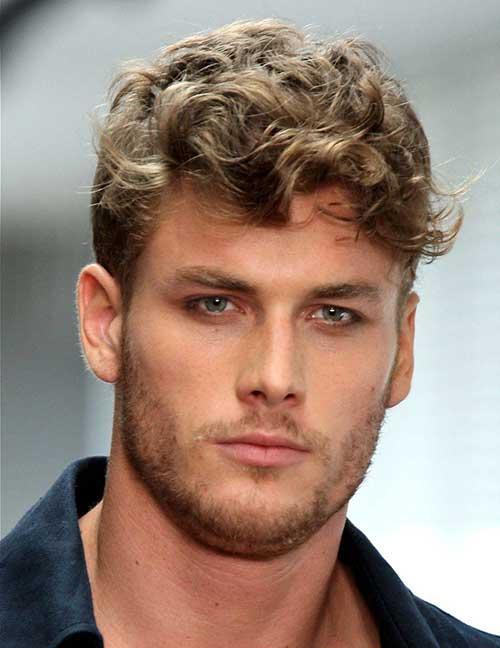 cabelo ondulado para homens