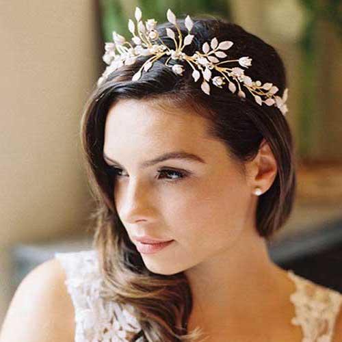 cabelo com coroa florida bonita