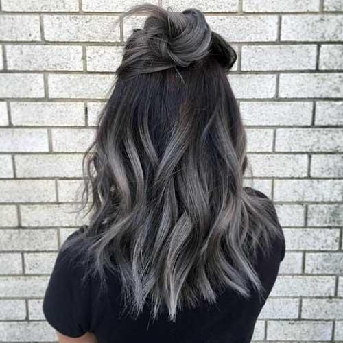 cabelo com meio coque