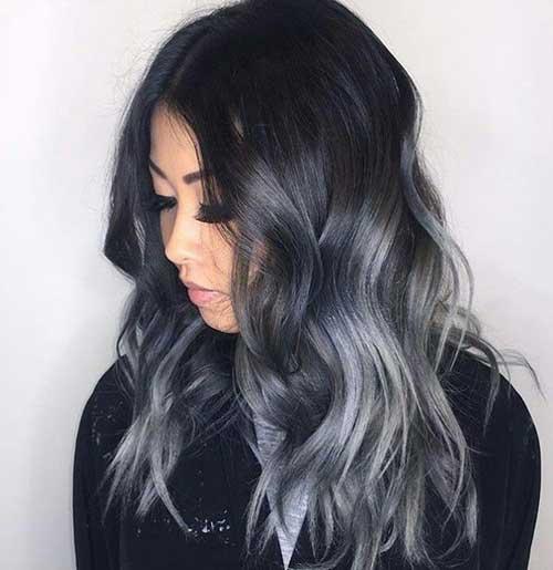 cabelo preto com luzes ombre hair