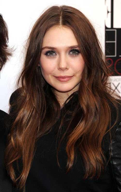 cabelo da elizabeth olsen bonito