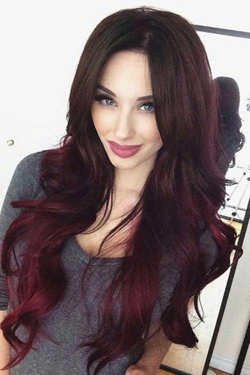 mechas ombre hair vermelhas no cabelo preto