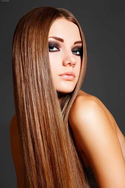 modelo de cabelo liso