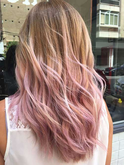 ombre hair pastel