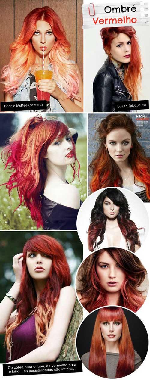 ombre hair avermelhado