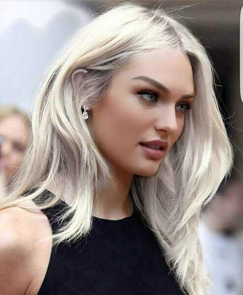 cabelo platinado liso lindo