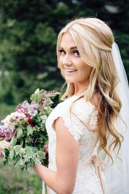 penteado meio solto pra noiva
