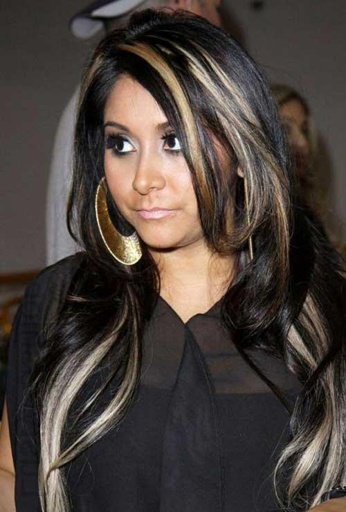cabelo preto marcado