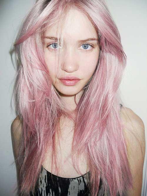 Pastel hair dark hair