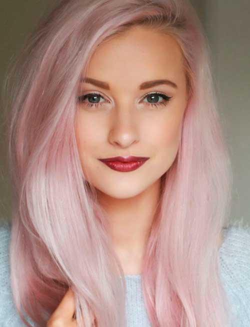 rosa platinado pastel