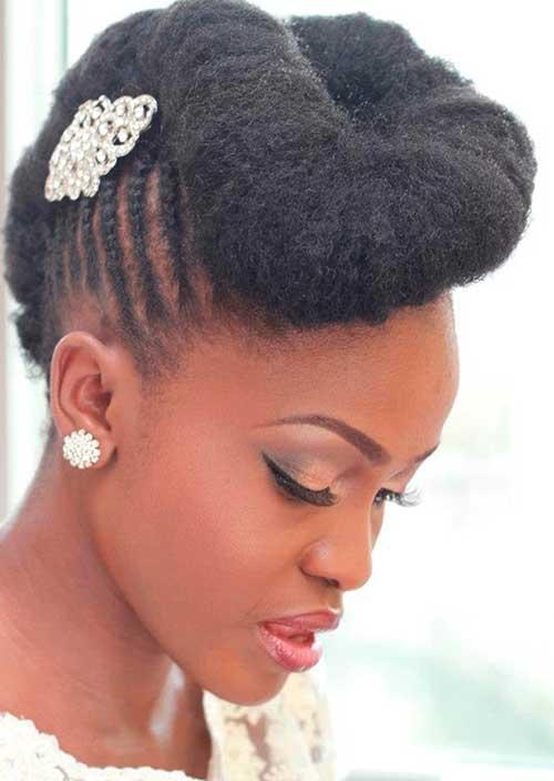 noiva negra com penteado especial