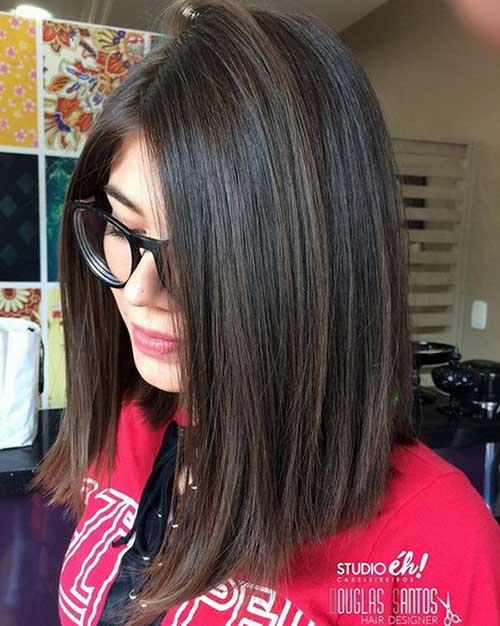 corte de cabelo long bob da moda