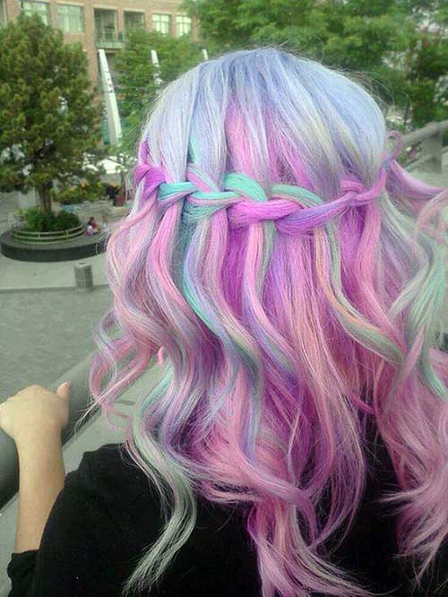 madeixas na cor do arco iris
