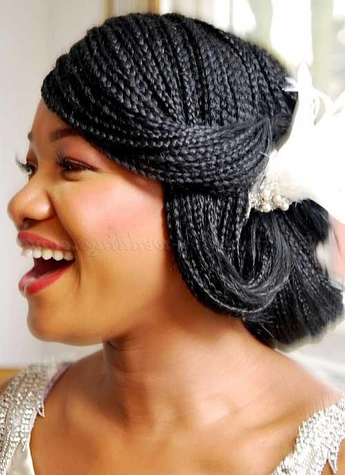 cabelo afro curto para noiva