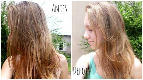 resultado de mel para hidratar o cabelo com bepantol