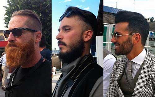 cabelos com barba em tamanhos diferentes