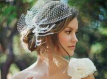 cabelo de noiva curto com casquete