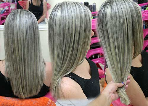 cabelo de mulher iluminado tapado