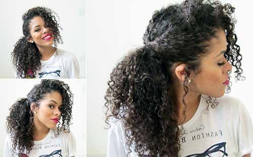 penteado em cabelo medio cacheado