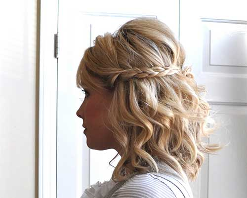 penteado semipreso em cabelo medio trançado