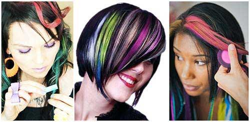 cabelos pretos coloridos