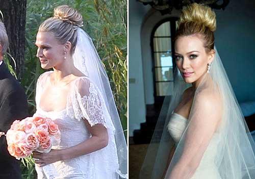 penteado coque alto de noiva
