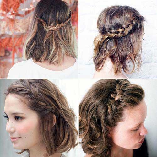 penteado coroa trançada