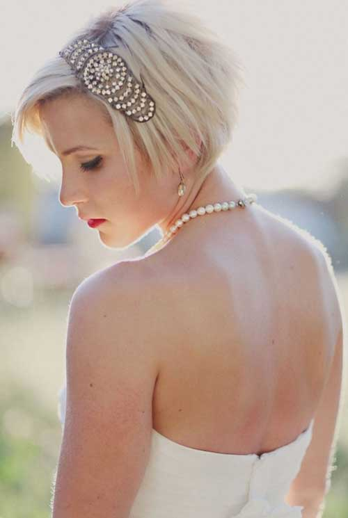 cabelos curtos, lisos e soltos para noiva