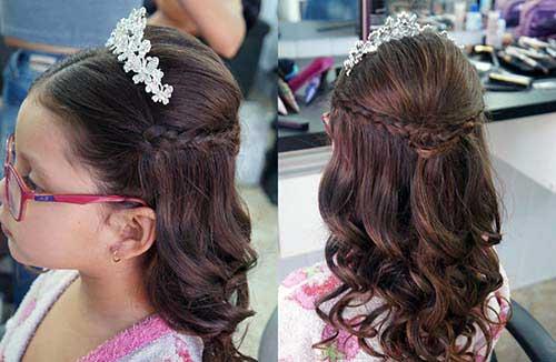 cabelo para daminha com arco
