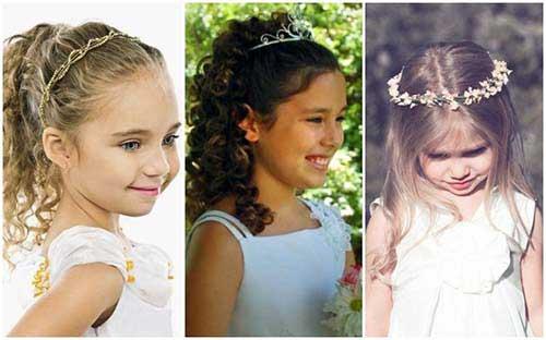 cabelo de daminha de casamento ou fantasia de princesa