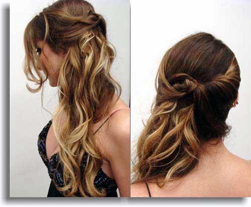 cabelo de madrinha de casamento a noite