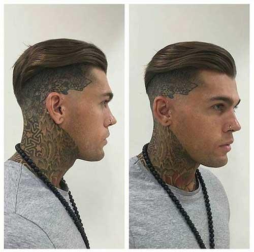 qual o nome do corte de cabelo masculino raspado do lado