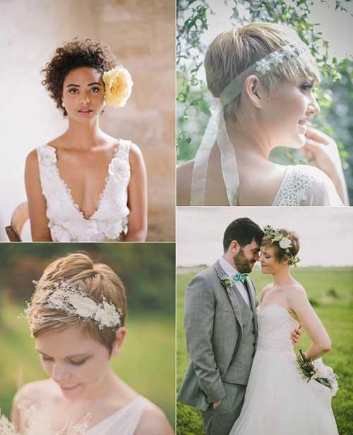 imagem de penteado para noiva de cabelo curto