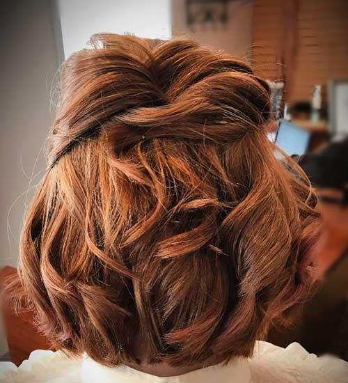 penteado semi preso curto e messy