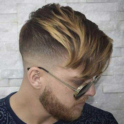 imagem de cabelo iluminado com franja grande e franja comprida