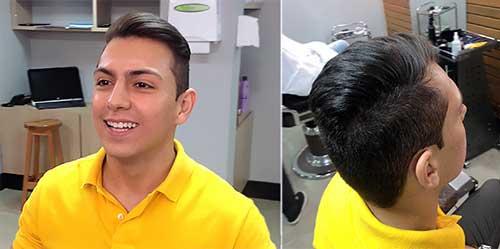 antes e depois de alisar com guanidina