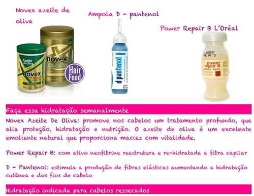 ingredientes para hidratacao caseira que funciona mesmo