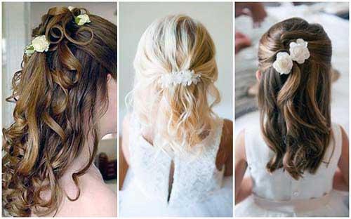 cabelos de daminha lindas prontas para casamento