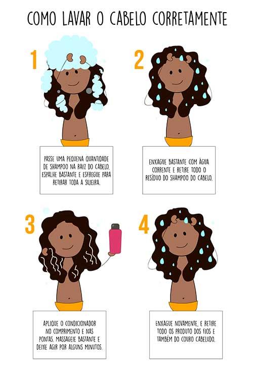 dica para lavar o cabelo corretamente