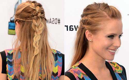 penteados semi presos cabelos médios nas loiras
