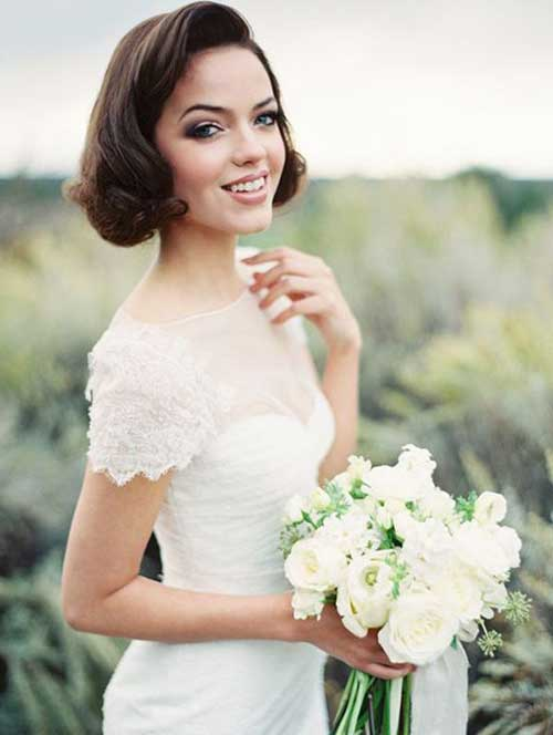 cabelo vintage para noiva de madeixa curta