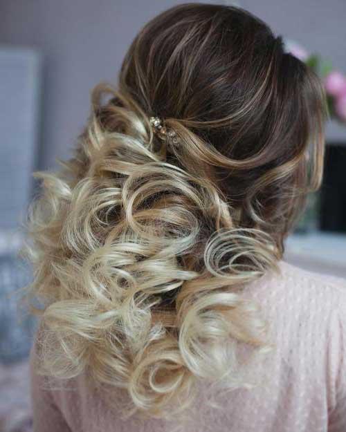 penteado para mae da noiva com luzes