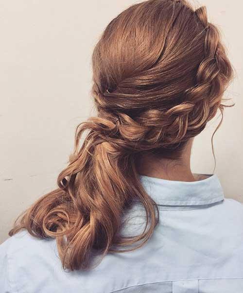 penteado semi preso em cabelo de lado