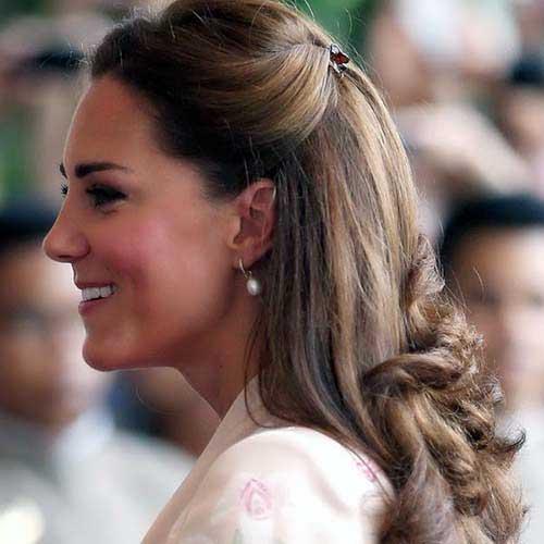 penteado de noiva ou princesa elegante