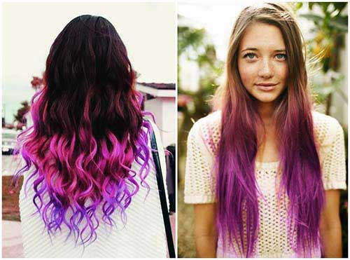 ombre hair e mecha californiana pink