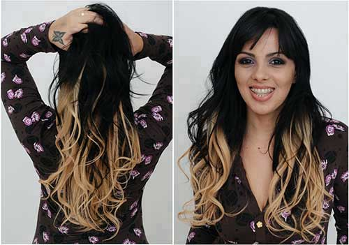 ombre hair no cabelo preto com loiro