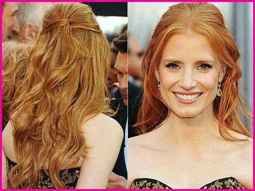 cabelos ondulados estilizados