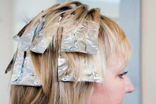 mechas no papel aluminio