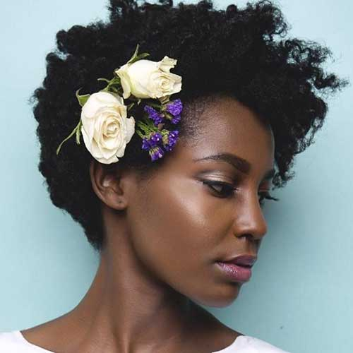 cabelo afro curto para noiva afro brasileira