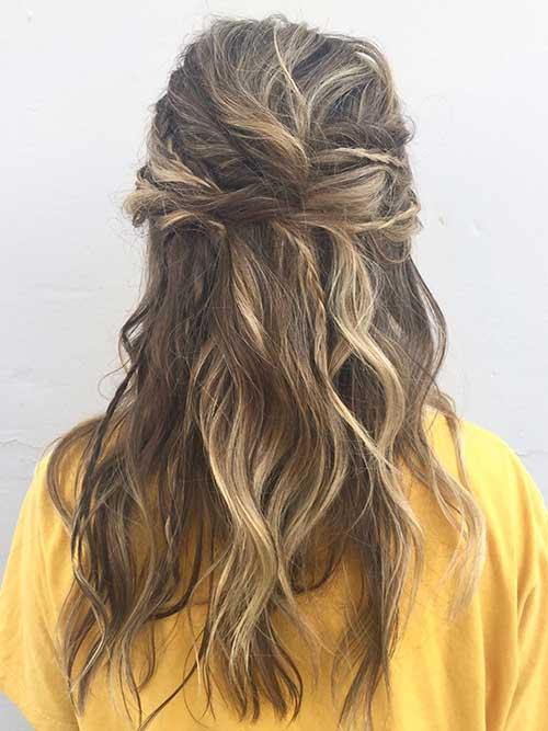 cabelo longo semi preso bonito